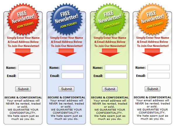 Free email templates for Free opt in form templates